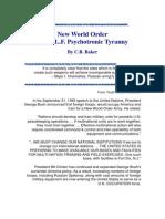 New World Order and Psychotronic Tyranny