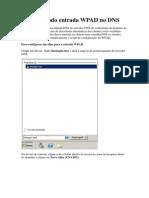 Configurando entrada WPAD