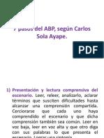 7 Pasos Del ABP, según Carlos Sola