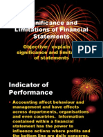 Significance and Limitations of Financial Statements