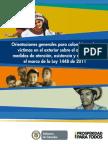 Orientaciones Generales para Colombianos victimas en el exteriore