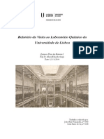 Relatório da Visita ao Laboratório Químico da Universidade de Lisboa Final