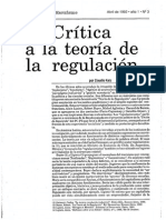 Claudio Katz, Crítica a La Teoría de La Regulación (1992)