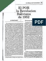 Pablo Rieznik, El POR en La Revolución Boliviana de 1952 (OCRed)