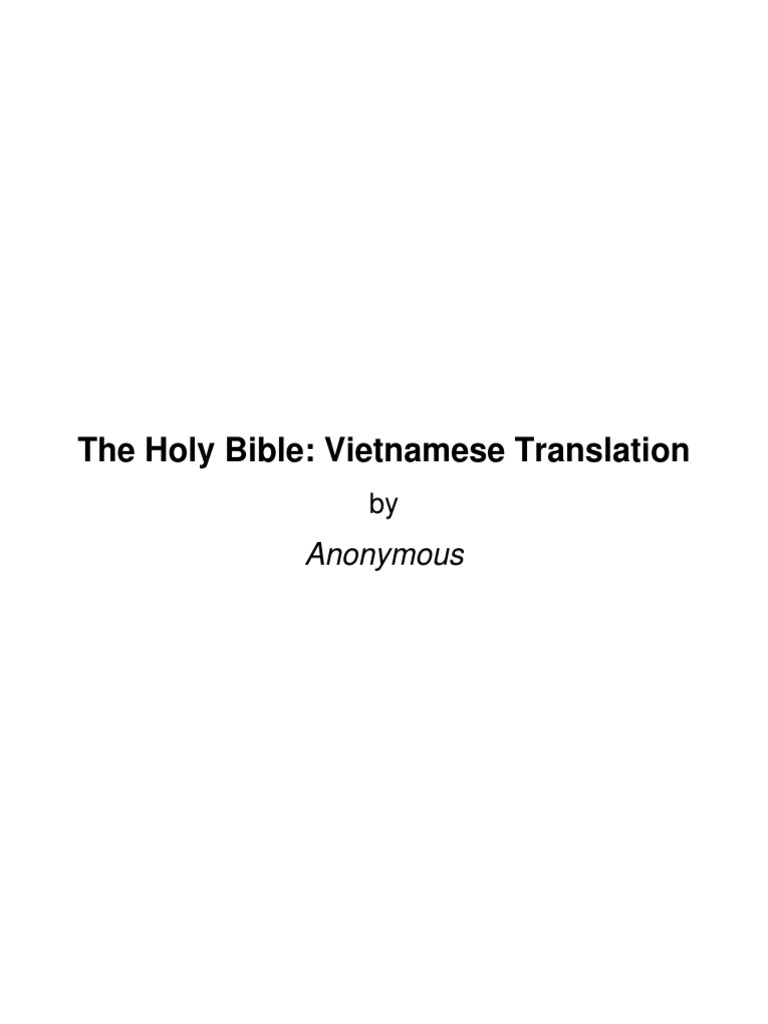 The Holy Bible in Vietnamese | Ancient Literature | Bible