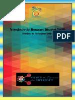District Newsletter November 2014 (French)