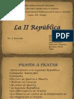 La II Republica