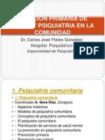 Atencion Primaria de Salud y Psiquiatria en La Comunidad