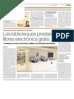 Les biblioteques prestaran llibres electrònics gratis