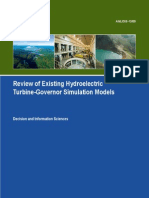 Review of Existing Hydro and PSH Models