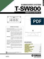Manual Yamaha YST-SW800 (Service)