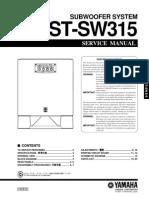 Manual Yamaha YST-SW315 (Service)