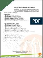 Comunicado Listas Postulantes FEUTFSM 2015