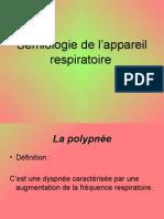 Sémiologie de l'appareil respiratoire