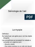 Sémiologie de l'œil