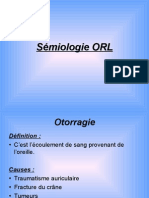 Sémiologie ORL