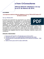 CrConsultores Boletin Informativo Empresas Multinivel