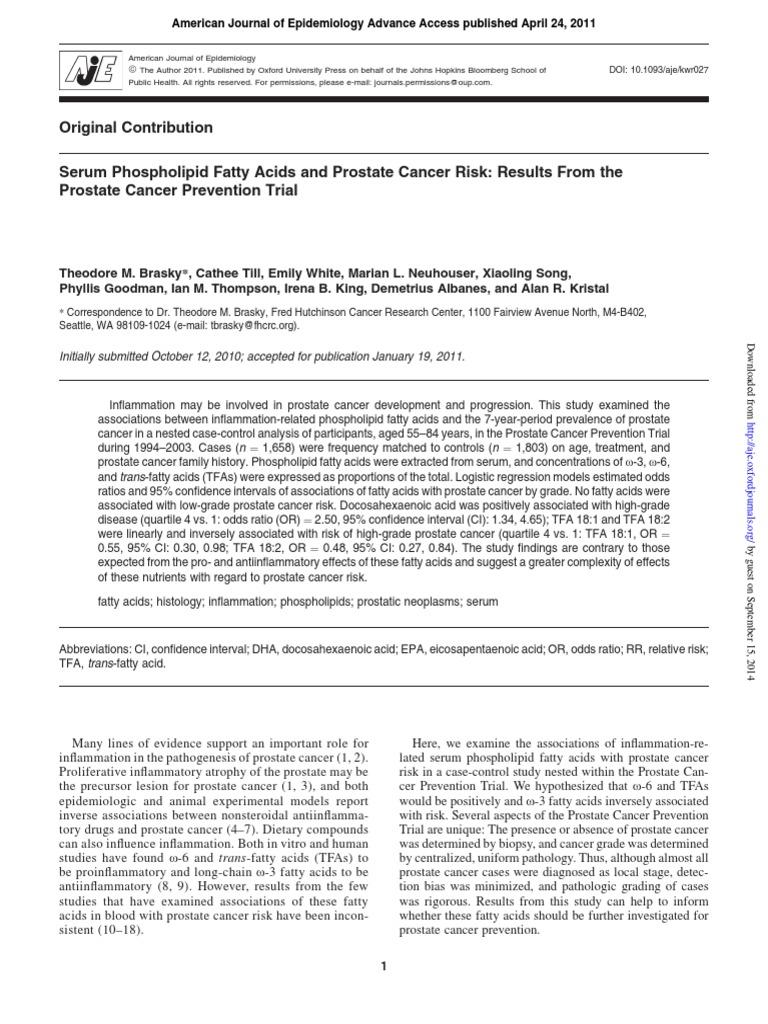 Am  J  Epidemiol  2011 Brasky Aje_kwr027 | Docosahexaenoic Acid