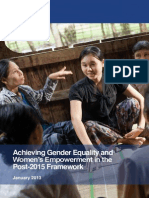 Achieving Gender Equality and Women%27s Empowerment in the Post 2015 Framework