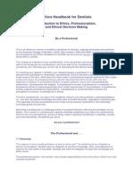 Ethics Handbook for Dentists