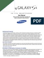 Samsung Galaxy S4 User Guide Verizon