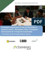 Estrategia Integral para el Uso de Bicicletas en  América Latina