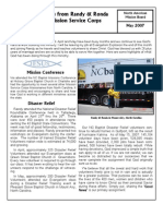 May 2007 Newsletter