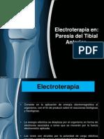 Electroterapia en paresia del tibial anterior