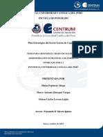 Plan Estrategico del Sector Lacteo de Cajamarca