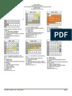 Novo Calendário Acadêmico 2014
