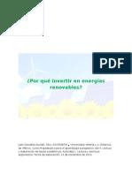 Por Qué Invertir en Energías Renovables