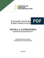 Matura 2014 - Fizyka - Poziom Rozszerzony - Odpowiedzi Do Arkuszy (Studiowac.pl)