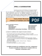 Appel a Candidature CEDOC 2014 2015 (1)