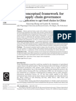 A Conceptual Framework for Supply Chain_ an Application to Agri-food Chains in Chinagovernance