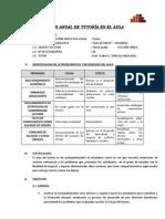 Plan Anual de Tutoria en El Aula 2014 Tercer Grado