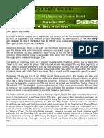2007 Sept Newsletter