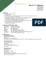 lisa updated resume november 2014