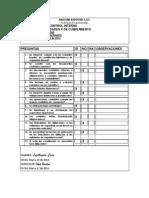 Cuestionario de Control Interno Para Presentar