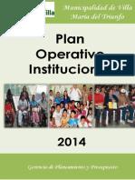 Plan Operativo 2014 Vmt
