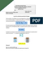 Ley de de los volúmenes parciales de Amaga