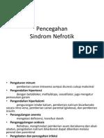 Pencegahan sindroma nefrotik