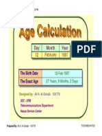 Calculate Your Agehelp of Excell