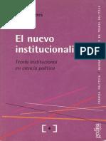 Guy Peters El Nuevo Institucionalismo