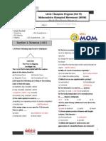 Mock Test Paper MOM Std 6