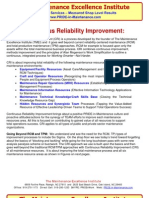 Continuous Reliability Improvement (CRI) Goes Well Beyond TPM and RCM