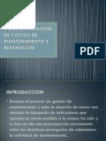 3.5 Determinacion de Costos de Mantenimiento y Reparacion