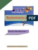 Piperine Manufacturers