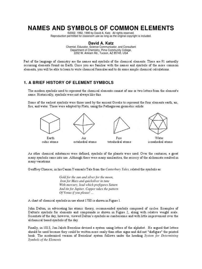 Names and symbols chemical elements metallic elements buycottarizona Choice Image