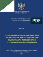 Kepmendagri 050-187_Kep_Bangda_2007 Ttg Pedoman Penilaian Dan Evaluasi Pelaksanaan Penyelenggaraan Musrenbang