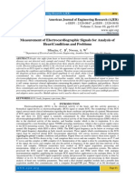Measurement of Electrocardiographic Signals for Analysis of HeartConditions and Problems